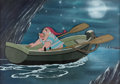 Animation Art:Production Cel, Peter Pan Mr. Smee Production Cel Setup and Painted Background (Walt Disney, 1953)....