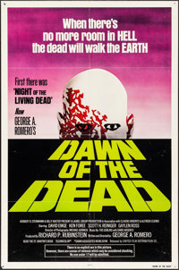 "Dawn of the Dead (United Film Distribution, 1978). One Sheet (27"" X 41"") Green Style. Horror"