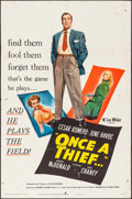 """Movie Posters:Crime, Once a Thief (United Artists, 1950). Folded, Fine+. One Sheet (27"""" X 41""""). Crime.. ..."""