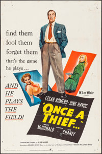 "Once a Thief (United Artists, 1950). One Sheet (27"" X 41""). Crime"