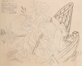 Animation Art:Production Drawing, Goofy and Wilbur Publicity Drawing (Walt Disney, 1939)....