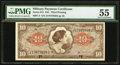 Military Payment Certificates, Series 641 $10 PMG About Uncirculated 55.. ...