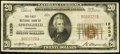 National Bank Notes, Springfield, TN - $20 1929 Ty. 1 The First NB Ch. # 12639. ...