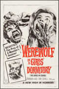 """Movie Posters:Horror, Werewolf in a Girls' Dormitory (MGM, 1963). One Sheet (27"""" X 41""""). Horror.. ..."""