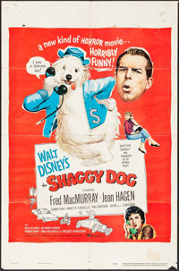 "The Shaggy Dog & Others Lot (Buena Vista, 1959). One Sheets (3) (27"" X 41"") & Soundtrack Poste..."