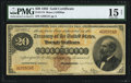 Large Size:Gold Certificates, Fr. 1174 $20 1882 Gold Certificate PMG Choice Fine 15 Net.. ...