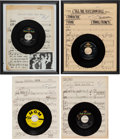 Music Memorabilia:Recordings, Connie Francis Group of Signed Music Scores and 45 Records(1960s).... (Total: 4 Items)