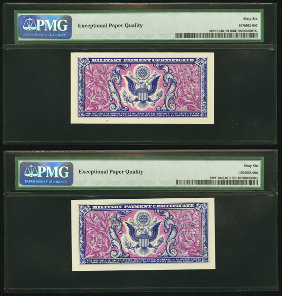 Series 481 5 First Printing Pmg Gem Uncirculated 66 Epq Lot