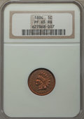 Proof Indian Cents: , 1894 1C PR65 Red and Brown NGC. NGC Census: (43/11). PCGS Population: (46/13). PR65. Mintage 2,632. ...