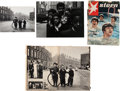 Music Memorabilia:Photos, Beatles - Two Signed Astrid Kirchherr Photographs of LiverpoolStreet Kids (1964).... (Total: 3 Items)