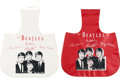 Music Memorabilia:Memorabilia, Beatles Air Flite Unused Litter/ Tote Bags (Two) in Both Colors, Red and White (US, NEMS, 1964)....