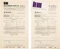 Music Memorabilia:Documents, Pink Floyd - Two Unsigned Performance Contracts (UK, 1967)....
