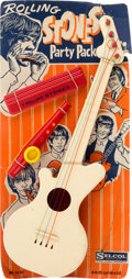 "Music Memorabilia:Toys, Rolling Stones ""Party Pack"" Toy Instrument Set (UK - Selcol No.1001, 1960s)...."