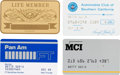 Movie/TV Memorabilia:Documents, A Bette Davis Group of ID/Charge Cards, Circa 1980s....