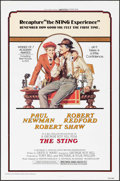 """Movie Posters:Crime, The Sting (Universal, R-1977). One Sheet (27"""" X 41"""") Richard Amsel Artwork. Crime.. ..."""