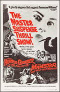 """Movie Posters:Horror, The Horror Chamber of Dr. Faustus/The Manster Combo (Cameo Pictures International, 1962). One Sheet (27"""" X 41""""). Horror.. ..."""
