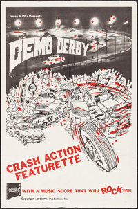"""Demo Derby (Pike Productions, 1963). One Sheet (27"""" X 41""""). Sports"""