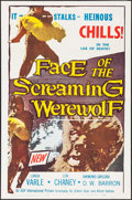 """Movie Posters:Horror, Face of the Screaming Werewolf (A.D.P., 1965). Folded, Very Fine-.One Sheet (27"""" X 41""""). Horror.. ..."""