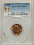 Proof Lincoln Cents: , 1950 1C PR67 Red PCGS Secure. PCGS Population: (85/1 and 3/0+). NGC Census: (127/7 and 2/0+). CDN: $250 Whsle. Bid for prob...