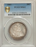 Seated Half Dollars: , 1861 50C MS61 PCGS Secure. PCGS Population: (19/236 and 0/9+). NGC Census: (26/188 and 0/0+). CDN: $510 Whsle. Bid for prob...