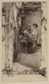 James Abbott McNeill Whistler (1834-1903) Little Rag Gatherers, 1858 Etching on laid paper, final state five 6 x 3-1/