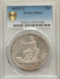 Trade Dollars, 1875-CC T$1 MS61 PCGS Secure. PCGS Population: (41/158). NGCCensus: (49/86). CDN: $2,000 Whsle. Bid for problem-free NGC/P...