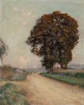 Fine Art - Painting, European:Modern  (1900 1949)  , Jules Alexis Muenier (French, 1863-1942). Road to Colombes, 1902. Oil on canvas. 32 x 25-3/4 inches (81.3 x 65.4 cm). Si...