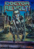 Fine Art - Work on Paper:Print, Dr. Revolt (American, 20th/21st Century). Meow 2, 2012. Acrylic, marker, and spray paint in colors on NYC metro map. 32-...