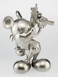 OG Slick (American, 20th century) Uzi Does It-Silver Bullet, 2014 Painted cast resin 16-1/2 inche