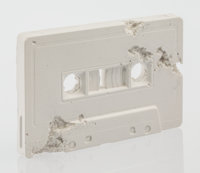 Daniel Arsham (American, b. 1980) Cassette Tape (FR-04), 2015 Plaster with glass fragments 2-5/8