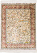 Rugs & Textiles:Hook Rugs, Two Persian Silk and Bullion Prayer Rugs. 5 feet 2-1/2 inches longx 3 feet 6-1/2 inches wide (158.8 x 108.0 cm) (including ...(Total: 2 Items)