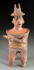 Pre-Columbian:Ceramics, A Large Jalisco Warrior Figure. c. 200 BC - 200 AD...