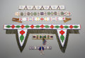 American Indian Art:Beadwork and Quillwork, Six Plains / Plateau / Great Lakes Beaded Hide Strips... (Total: 6Items)
