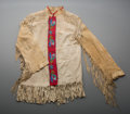 American Indian Art:Beadwork and Quillwork, A Crow Beaded Hide Jacket...