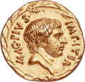 Ancients:Roman Republic, Ancients: Sextus Pompey, as Imperator (44-36 BC). AV aureus (20mm,7.95 gm, 6h). NGC (photo-certificate) Choice AU 	...