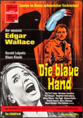 "Movie Posters:Horror, Creature with the Blue Hand (Constantin Film, 1967). German A1 (23.25"" X 33""). Horror.. ..."