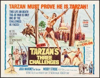 """Tarzan's Three Challenges & Other Lot (MGM, 1963). Half Sheets (2) (22"""" X 28""""). Adventure. ... (Total: 2 I..."""