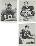 Football Collectibles:Photos, 1960's-80's Unitas, Starr and Ditka Signed Photographs (3).. ...