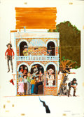 """Movie Posters:Comedy, The Apple Dumpling Gang by Paul Wenzel (Buena Vista, 1975).Original Acrylic and Pastel Poster Artwork (22.75"""" X 31.25"""").. ..."""