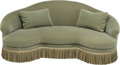 Furniture , An Upholstered Kidney-Shaped Love Seat. 37 h x 84 w x 52 d inches (94.0 x 213.4 x 132.1 cm). ... (Total: 3 Items)