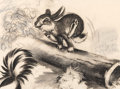 Animation Art:Concept Art, Bambi Thumper Concept/Story Art by Marc Davis (Walt Disney,1942)....