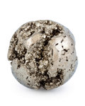 Lapidary Art:Eggs and Spheres, Pyrite Sphere. Peru. 2.17 inches (5.50 cm) in diameter. ...