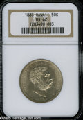 Coins of Hawaii: , 1883 50C Hawaii Half Dollar MS62 NGC. Well struck, highly lustrous,and essentially untoned, save for a few small touches o...