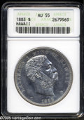 Coins of Hawaii: , 1883 S$1 Hawaii Dollar AU55 ANACS. The dollar is the key to theHawaiian series. With a net mintage of only 46,348 pieces, ...