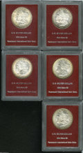 Additional Certified Coins: , 1880-S S$1 MS65 Paramount International (MS64), medium S, flashyand bold, golden-brown toning along the obverse border; ... (5Coins)
