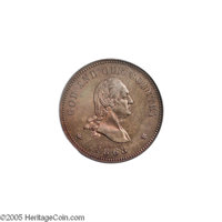 1863 2C Two Cents, Judd-305, Pollock-370, R.4, PR66 Red and Brown PCGS. The popular Washington obverse with GOD AND OUR...