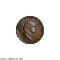 1866 5C Five Cents, Judd-485, Pollock-574, High R.7, PR66 PCGS. Washington portrait for the five cent piece with bust fa...