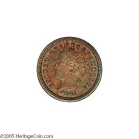 1881 1C Liberty Head One Cent, Judd-1666, Pollock-1866, R.6-7, PR64 Red and Brown PCGS. Charles Barber's Liberty nickel...