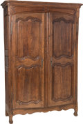 Furniture , A Large French Provincial Carved Oak Armoire, late 18th-early 19th century. 88 h x 57 w x 21 d inches (223.5 x 144.8 x 53.3 ... (Total: 2 Items)