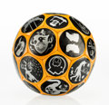 Sculpture, Ryan McGinness (American, b. 1972). Soccer Ball, 2004. Rubber. 9 x 9 x 9 inches (22.9 x 22.9 x 22.9 cm). Published by Ce...